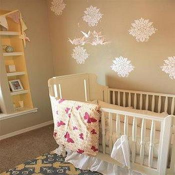 White Nursery Crib, Transitional, nursery, Kenzie Poo