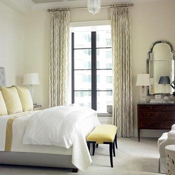 Gray and Yellow Bedroom, Transitional, bedroom, Womack Interiors