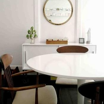dining rooms - ikea docksta, docksta dining table, sideboard, white side board, torsby, ikea torby, torsby sideboard, vintage dining chairs,