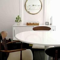 dining rooms - Ikea, Docksta, table, ikea, buffet, cabinet, mid-century, modern,  via Apartment Therapy apartmenttherapy.com  Ikea Docksta table