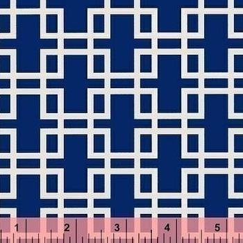 Anna Griffin, Retro Squares in Blue, Darcey Collection by fabricsupplies on Etsy