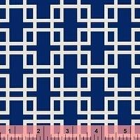 Wallpaper - Anna Griffin, Retro Squares in Blue, Darcey Collection by fabricsupplies on Etsy - fabric