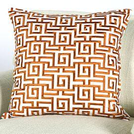 Z Gallerie, Labyrinth Pillow, Orange 20