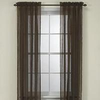 Window Treatments - Bed Bath & Beyond - Crushed Voile Window Sheers - window treatment