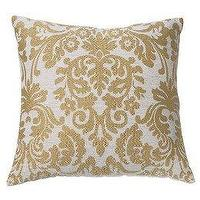 Pillows - Damask Pillow - Gold (18x19 - pillow