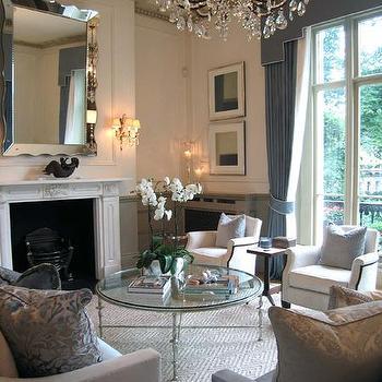 Cornice Box, Transitional, living room