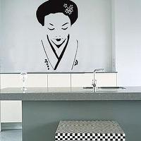 Art/Wall Decor - Geisha Girl Wall Sticker - wall art, sticker