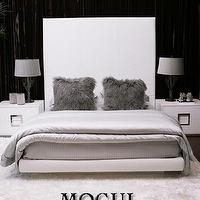 Beds/Headboards - MOGUL - bed, white, leather, alligator, sleek