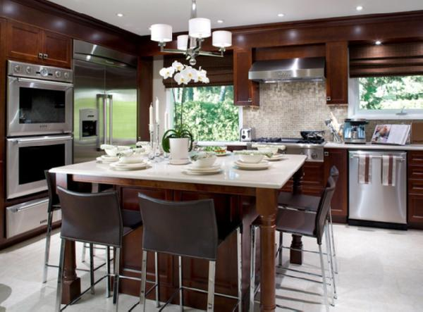Espresso Cabinets - Contemporary - kitchen - Candice Olson