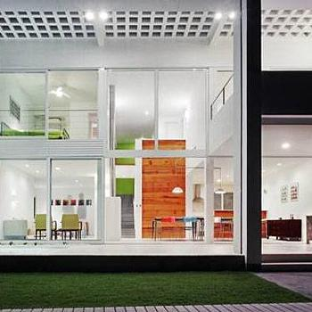 home exteriors - glass house, see through house,  Thanks to Plastolux and Jose Kos.  modern home exterior