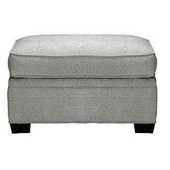 Seating - American Signature Furniture - - Kaitlin Turquoise Ottoman - ottoman