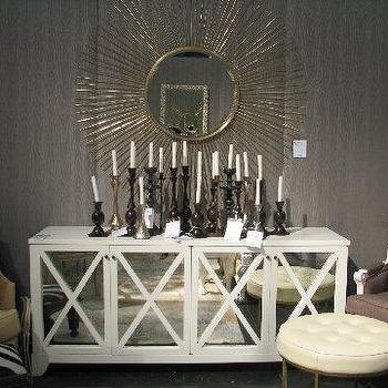 Mirrored Sideboard, Contemporary, dining room