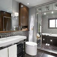 Candice Olson - bathrooms - Candice Olson, modern, bathroom, mirrors, glass, tiles, backsplash, pedestal, sink, candice olson bathroom, candice olson bathrooms, candice olson rooms, candace olson design, candice olson interior design, candice olson,