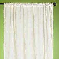 Window Treatments - Natural Essential Voile Curtains Set of 2 - Window Panels - Cost Plus World Market - curtains, drapes, panels