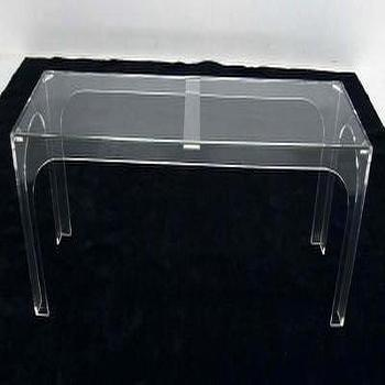 Tables - Mid Century Modern 70 - console, lucite, mid century modern