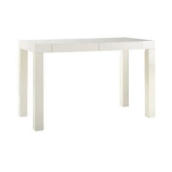Storage Furniture - parsons desk with drawers | west elm - white parsons desk