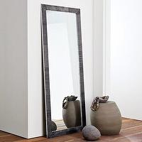Mirrors - ribbed metal floor mirror | west elm - mirror