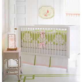 Bedding - Kate Nursery Bedding Collection for Baby Girl | Serena & Lily - nursery, baby, crib, green, pink, white