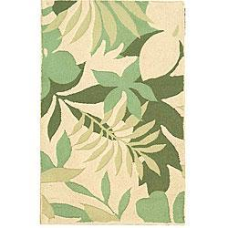 Hand-tufted Spring Beige Contemporary Wool Rug (2'6 x 4'), Overstock.com