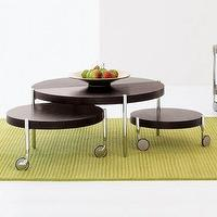 Tables - Munich Coffee Table with Swing Out Side Tables - coffee table