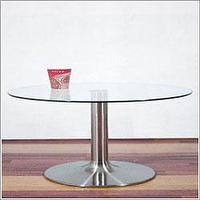 Tables - Pedestal Coffee Table - glass, coffee table