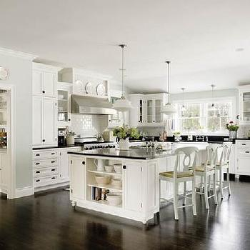 kitchens - pottery barn bar stools, pottery bar counter stools, schoolhouse pendants, island shelf, kitchen island shelf, decorative wall plates, white kitchen cabinets, , Schoolhouse Pendant,
