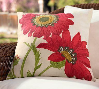 Poppy Outdoor Pillow | Pottery Barn