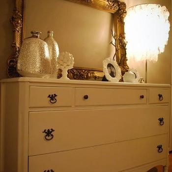 Nuestra Vida Dulce - living rooms - craigslist dresser, french dresser, baroque mirror, gold baroque mirror,  My craigslist dresser makeover!