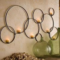 Decor/Accessories - Circles Wall-Mount Votive Holder | Pottery Barn - circles, candles, metal