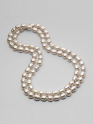 Miscellaneous - Majorica - 12MM White Baroque Pearl Necklace/48 - pearls