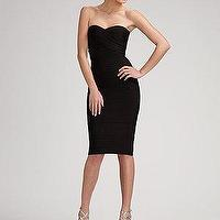 Miscellaneous - Herve Leger - Strapless Essential Dress - Saks.com - black dress