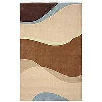 Rugs - Hand-tufted Illusions Swirl Modacrylic Rug (5' x 7') - rug