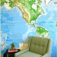 Art/Wall Decor - UrbanOutfitters.com > World Map Wall Mural - art, map, mural