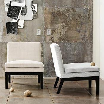 Seating - upholstered slipper chair | west elm - slipper chair
