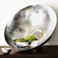 Decor/Accessories - hammered entertaining - bowls | west elm - hammered bowls