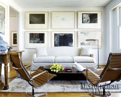 Cozy Living Rooms on Elle Decor   Modern  Cozy Living Room  Photo Gallery  Off White Cream