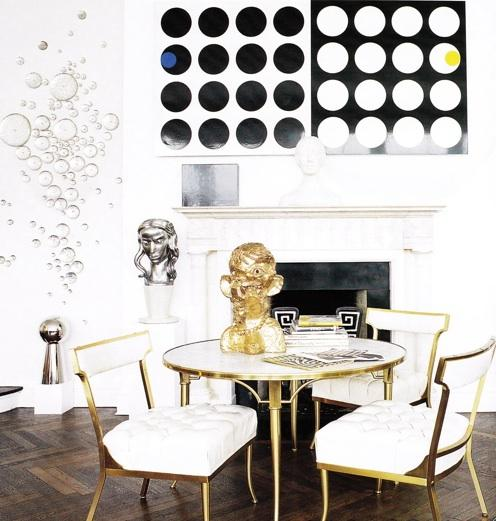 Black and gold dining rooms interior design ideas for Dining room ideas gold