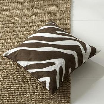 zebra pillow cover, west elm