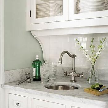 kitchens - butlers pantry, butler pantry, butlers pantry sink, hammered sink, small hammered sink, round hammered sink, subway tile backsplash,
