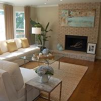 Greige Paint Contemporary Living Room Benjamin Moore