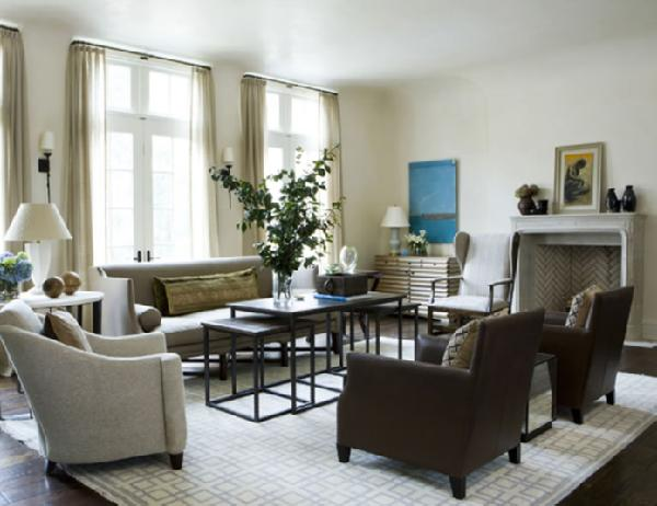Nesting Coffee Tables, Transitional, living room