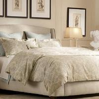 Restoration Hardware  restoration hardware fall 09 warner bedroom, warner upholstered ...