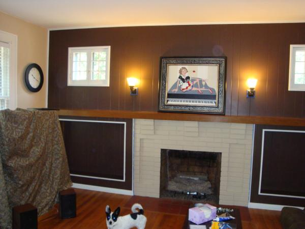 Living room for Living room accent wall