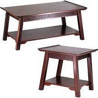 Tables - Walmart.com: Chinois Occasional Table Set: Furniture - Greek Key, Asian