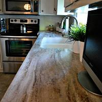 Nuestra Vida Dulce - kitchens - Corian, white, kitchen, counter, tops, Sandalwood, Private, Collection, Joi, cabinets,  Kitchen