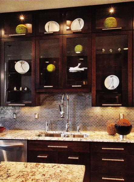 Kitchen Magic On Pinterest Dark Cabinets Glass Subway Tile And Subway Tiles
