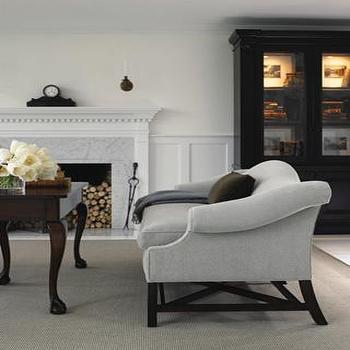 Brown Velvet Couch Transitional Living Room