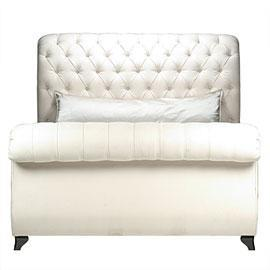 Beds/Headboards - Victoria Sleigh Bed - tufted, bed