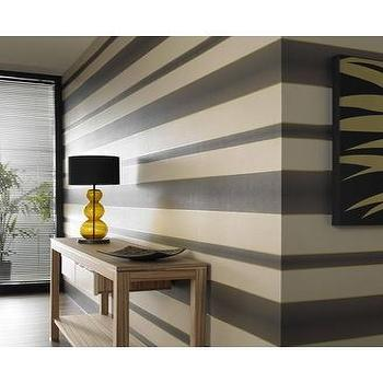 Wallpaper - Verve Stripe : Brown Wallpaper : 58221 : Graham & Brown - striped wallpaper