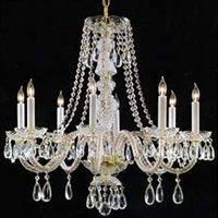 Lighting - Crystorama 5046 Bohemain Crystal Basket 6 Light Chandelier , Crystal Chandeliers by Crystorama Lighting Group - chandelier, crystal